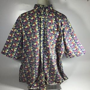 Tommy Hilfiger floral button down short sleeve XL